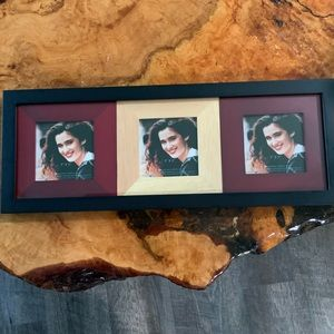 "Picture Frame for 3 - 3"" x 3"" Photos"